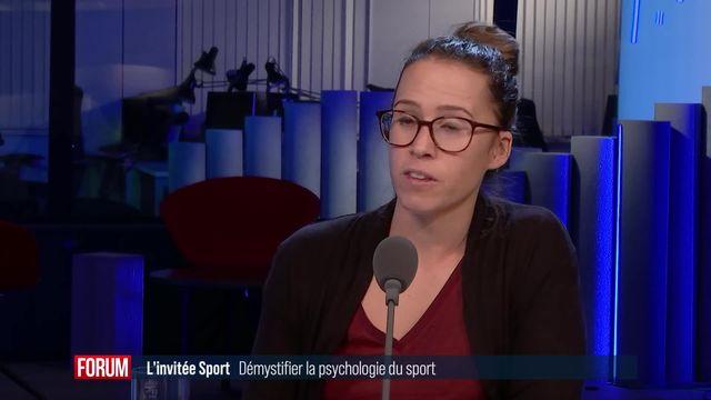 L'invitée sport – Mélanie Hindi à propos de la santé mentale des sportifs [RTS]