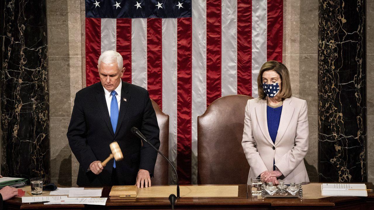 Mike Pence et Nancy Pelosi. [Erin Schaff/The New York Times via AP - Keystone]