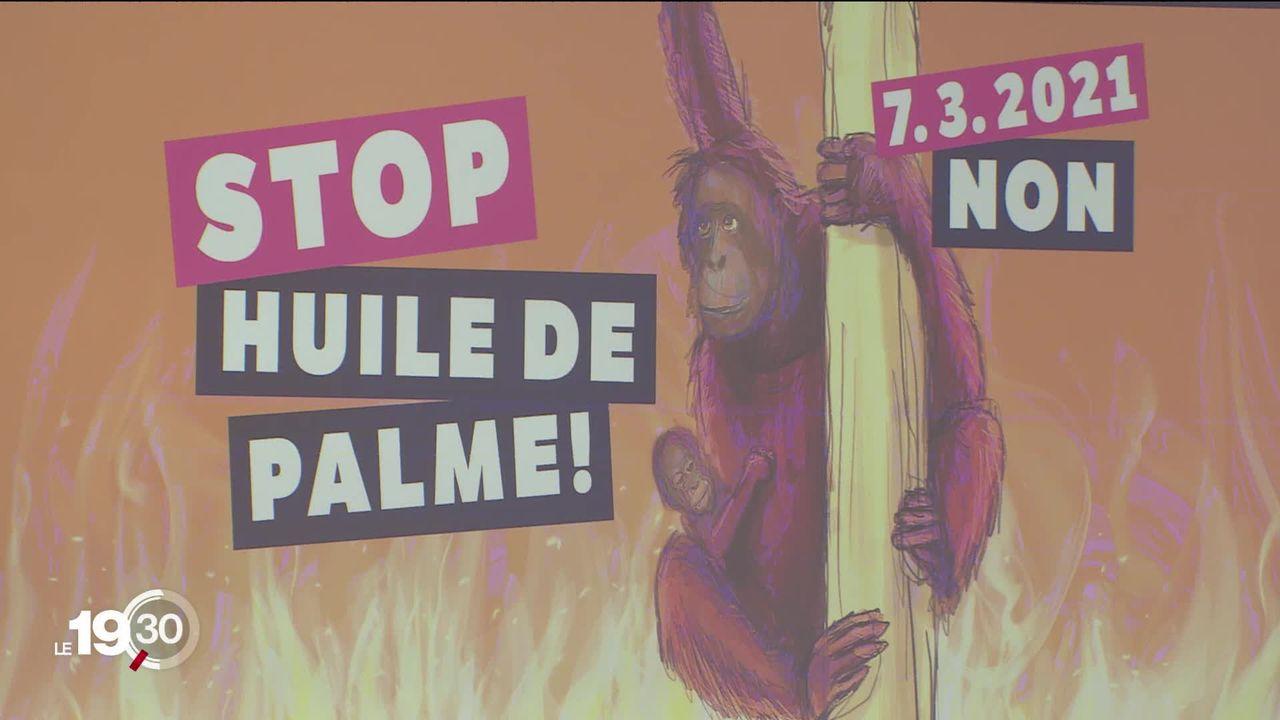 """Le comité référendaire """"Stop huile de palme"""" a lancé la campagne en vue du 7 mars [RTS]"""