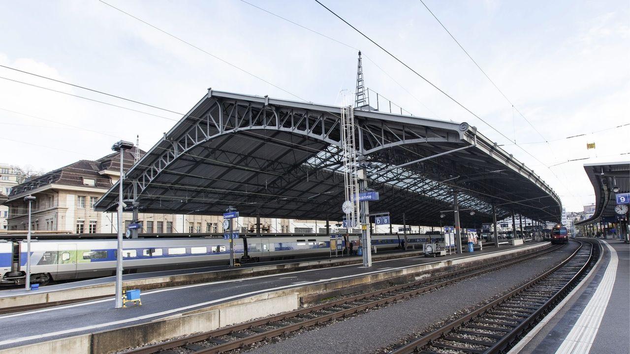 Les travaux de transformation de la gare de Lausanne vont pouvoir commencer en été 2021. [Aline Staub - Keystone]