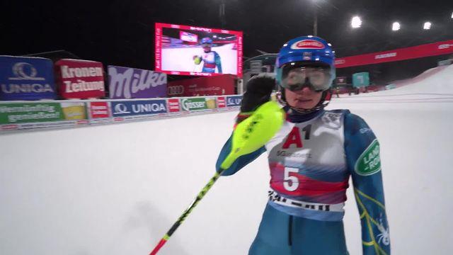 Flachau (AUT), slalom dames, 1re manche: Mikaela Shiffrin (USA) prend les commandes [RTS]