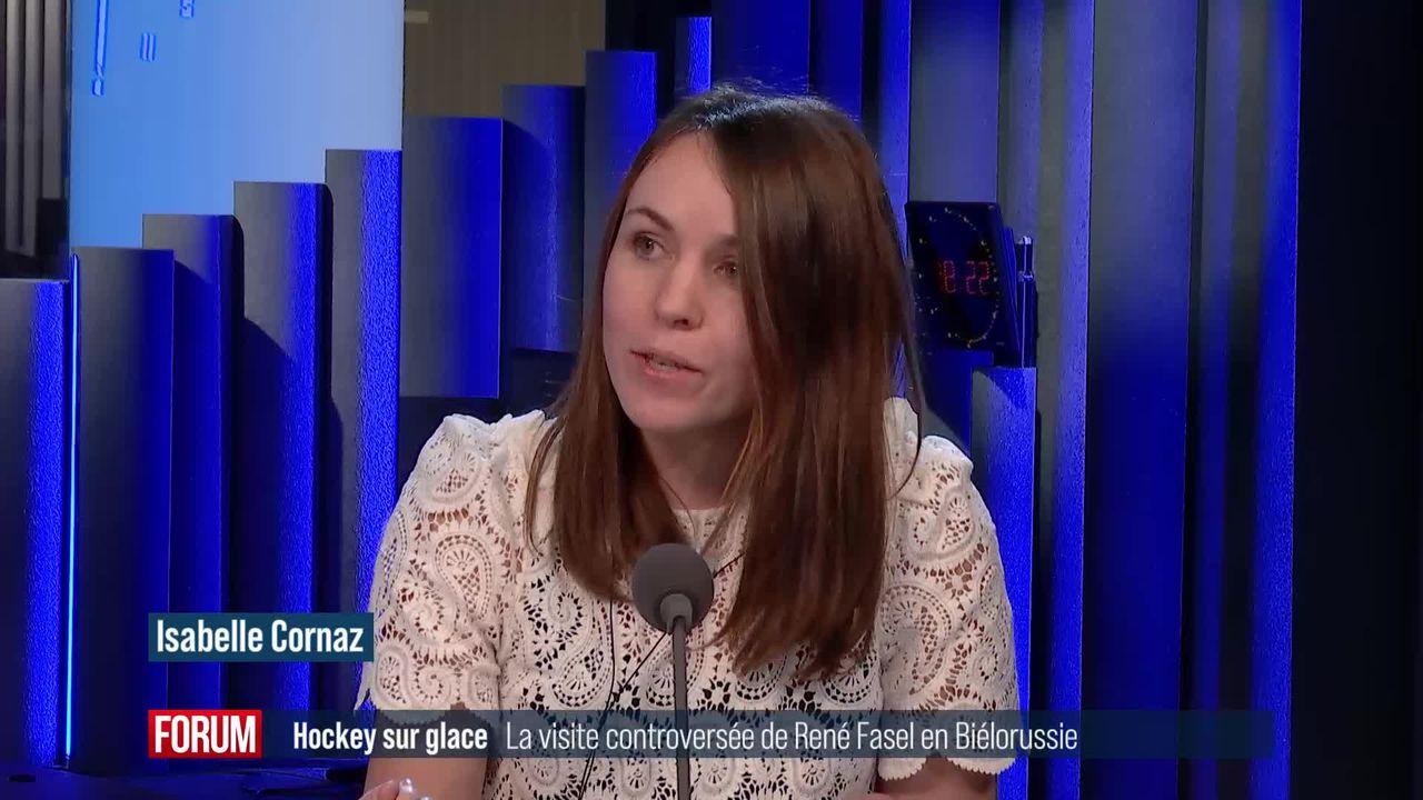 Biélorussie : la visite controversée du président de la Fédération internationale de hockey sur glace René Fasel [RTS]