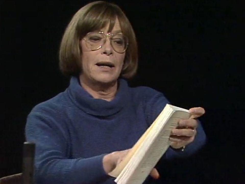 Catherine Charbon sur le plateau de La voix au chapitre [RTS]