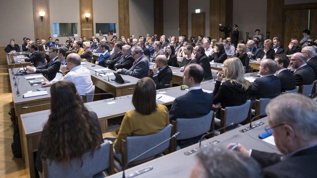 Les 130 membres de la constituante réunis lors de la séance constitutive la constituante valaisanne.  [ADRIEN PERRITAZ - KEYSTONE]