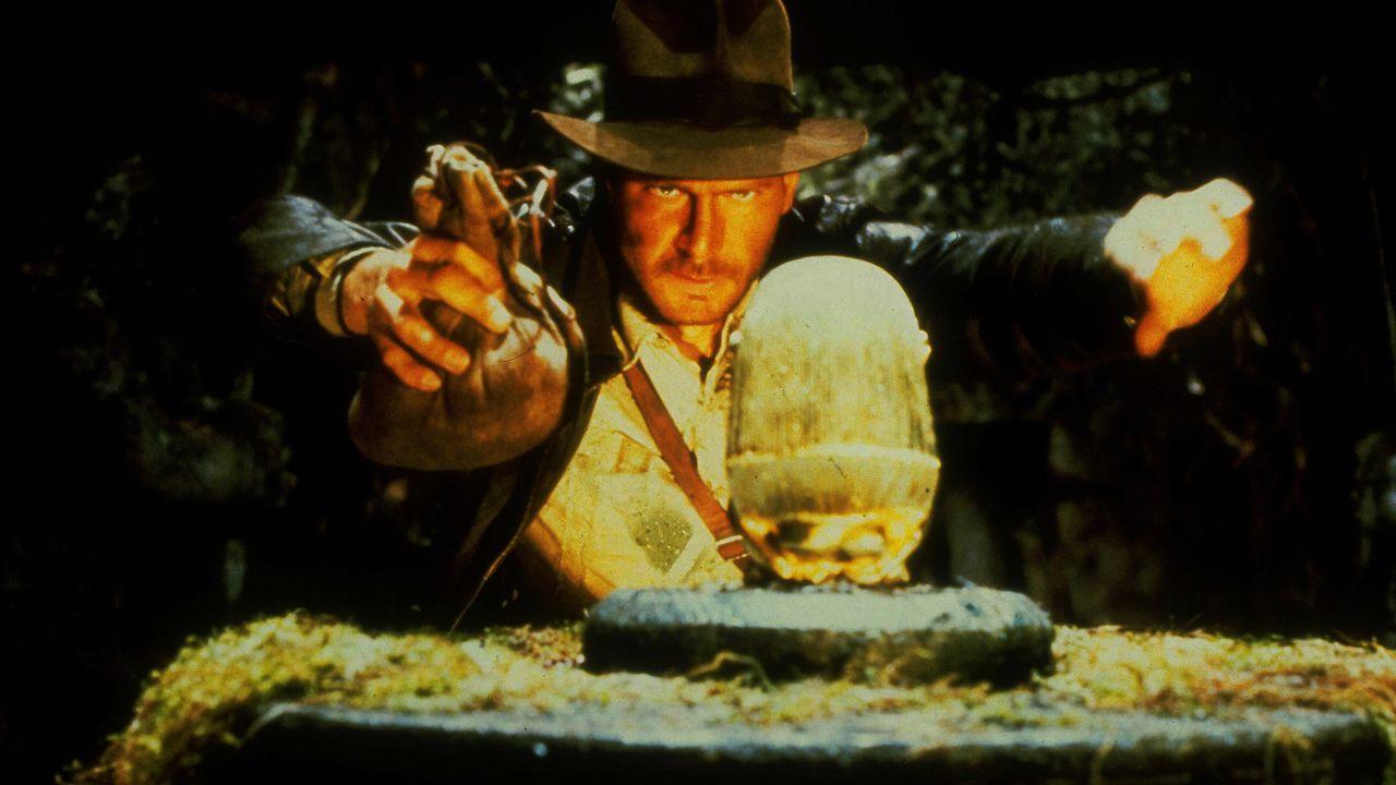 """Harrison Ford dans """"Les aventuriers de l'arche perdue"""" de Steven Spielberg (1981). [AFP - Lucasfilm Ltd /Paramount / The Kobal Collection]"""