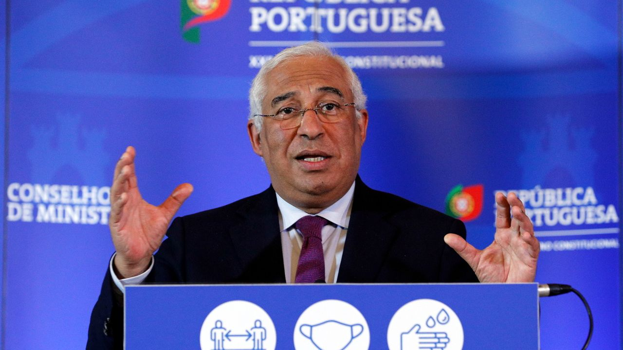 Le Premier ministre du Portugal Antonio Costa a annoncé un deuxième confinement. [ANTONIO COTRIM - EPA]