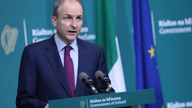 Le Premier ministre irlandais Micheal Martin présente en personne les excuses du pays pour les décès d'enfants survenus dans les maisons pour mères célibataires. [Julien Behal / EPA Irish Government - Keystone]