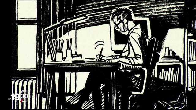 """Frederik Peeters, auteur suisse de bandes dessinées, sort """"Oleg"""", une sorte d'autobiographie sur son quotidien de dessinateur [RTS]"""