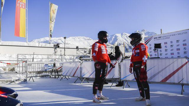 Un décor de carte postale ce samedi pour les bobeurs à Saint-Moritz.