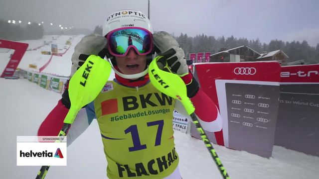 Flachau (AUT), slalom messieurs: Tanguy Nef (SUI) [RTS]