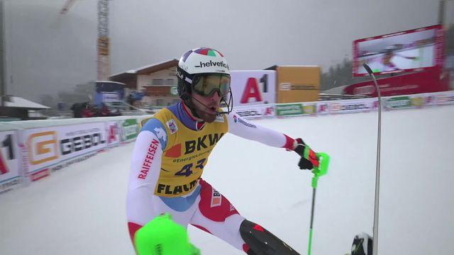 Flachau (AUT), slalom messieurs: Luca Aerni (SUI) [RTS]