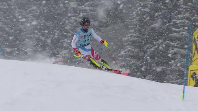 Flachau (AUT), slalom messieurs: Sandro Simonet (SUI) [RTS]