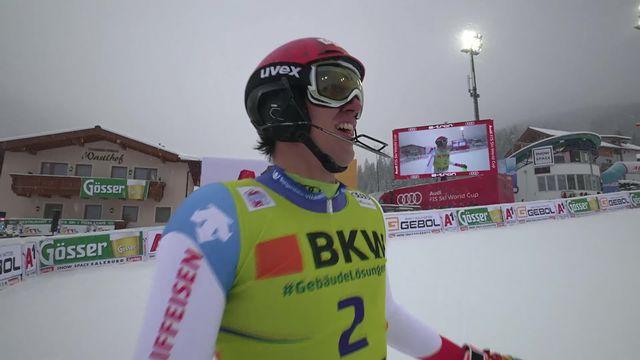 Flachau (AUT), slalom messieurs: Ramon Zenhäusern (SUI) [RTS]
