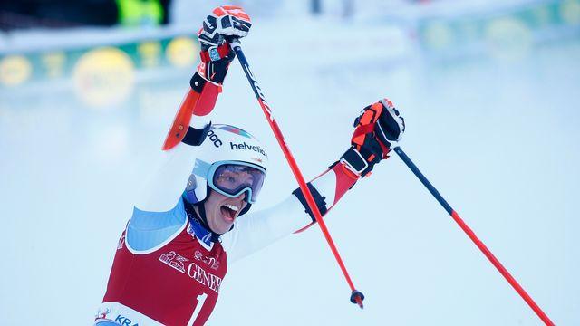 Michelle Gisin a écrit samedi une page d'histoire du ski suisse. [Srdjan Zivulovic - Reuters]