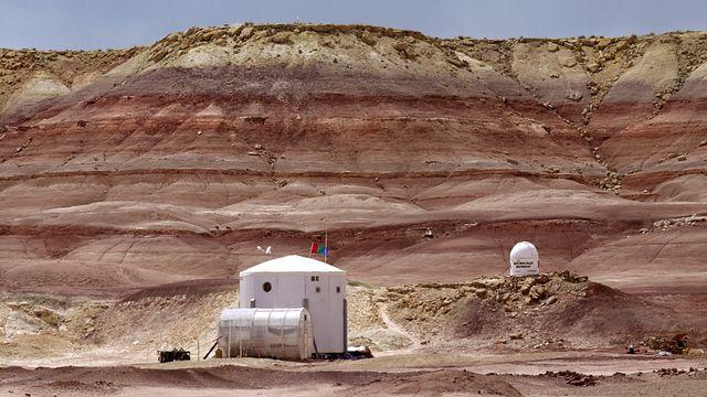 Une base américaine qui simule la vie sur mars dans l'Uthah. [Douglas C. Pizac - AP Photo/Keystone]