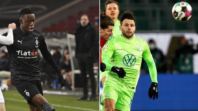 Zakaria et Steffen se sont illustrés lors de la 16e journée de Bundesliga. [M.Murat/F.Strangmann - Keystone]