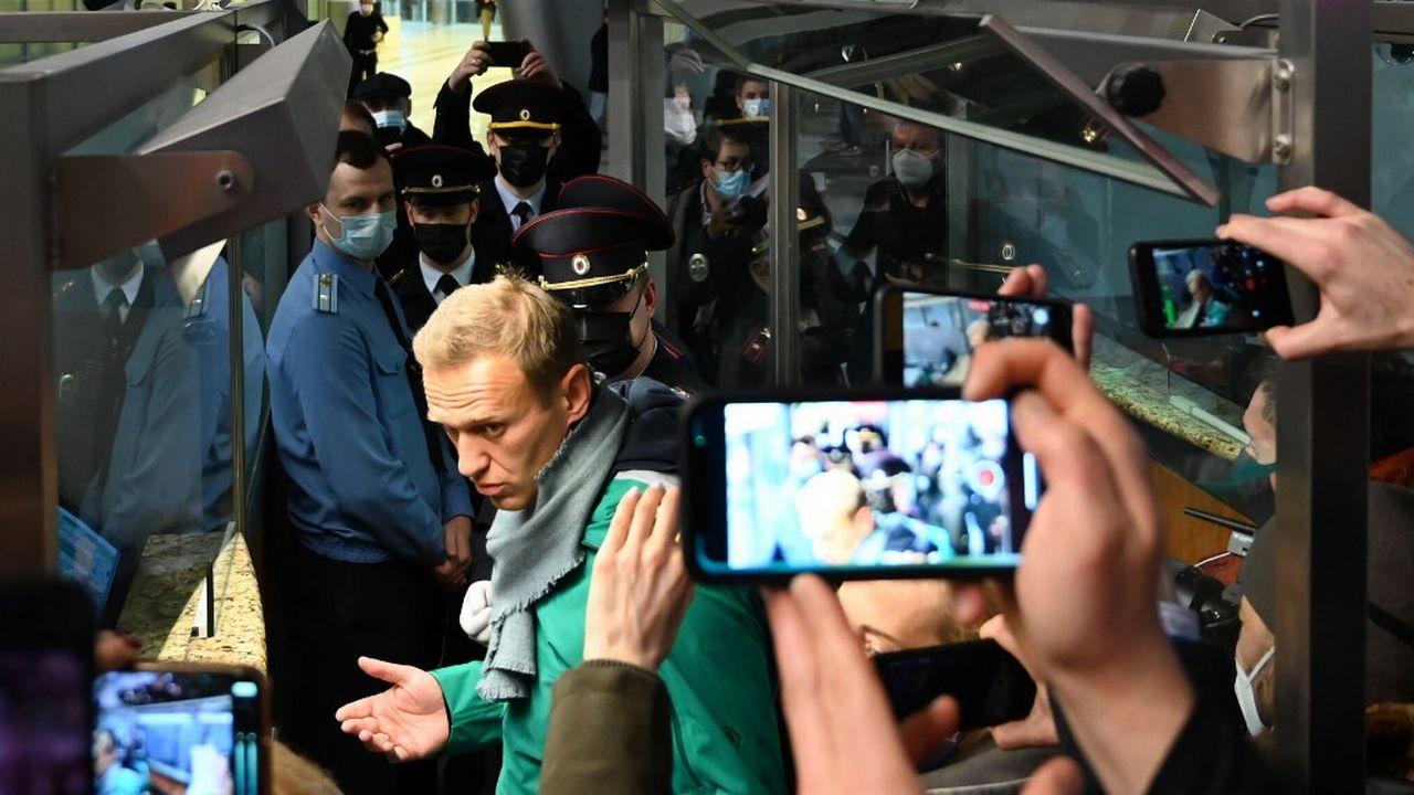 L'opposant russe Alexeï Navalny a été arrêté à son arrivée à l'aéroport de Cheremetievo à Moscou. [Kirill Kudryavtsev - AFP]