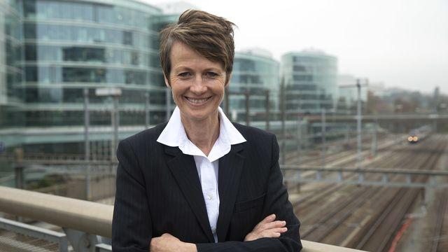 Madeleine von Holzen, rédactrice en chef en charge de l'organisation éditorial du journal Le Temps et de Heidi.news. [Salvatore Di Nolfi - Keystone]