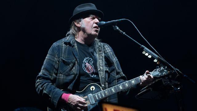 Neil Young lors d'un concert à Québec le 6 juillet 2018. [Alice Chiche - AFP]
