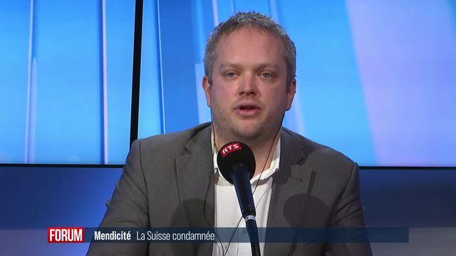 La Suisse condamnée par la CEDH pour avoir amendé une mendiante roumaine: interview de Raphaël Mahaim [RTS]
