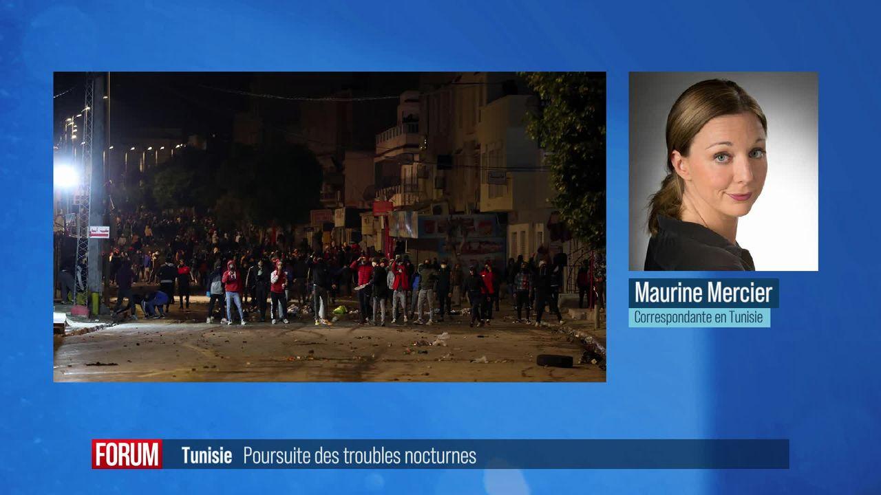 Les troubles et violences nocturnes se poursuivent en Tunisie [RTS]