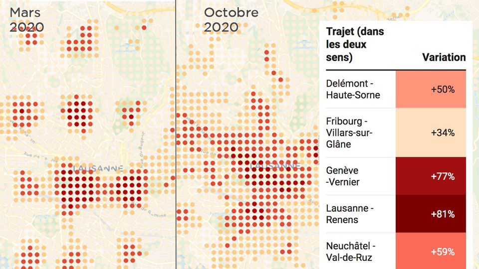 L'occupation des villes et les déplacements, de retour à la normale en octobre [RTS]