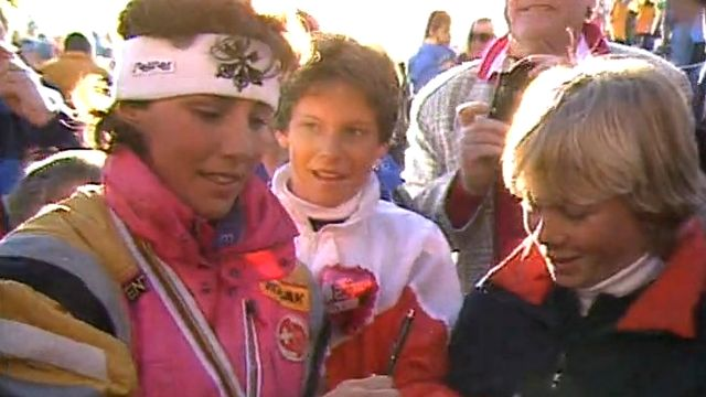 Fans de ski avec Maria Walliser [RTS]
