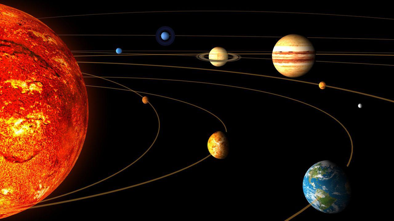 Illustration du système solaire réalisée par l'Agence spatiale européenne. [AP Photo/ESA/HO - Keystone]
