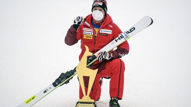 Beat Feuz a remporté la descente de Kitzbühel.  [Christian Bruna - EPA/Keystone]
