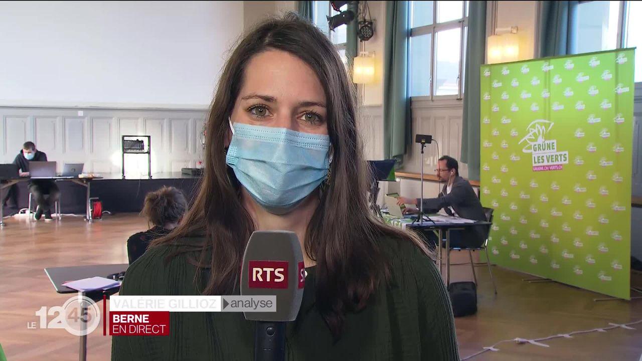 """Valérie Gillioz: """"Les jeunes Verts veulent aller plus vite dans la lutte contre le réchauffement."""" [RTS]"""