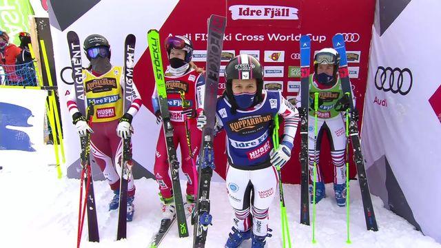 Idre Fjäll (SUE), skicross dames: Alizée Baron (FRA) 1re,  Fanny Smith (SUI) 3e [RTS]