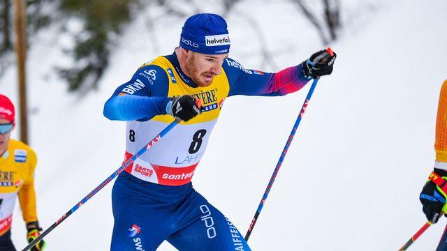 Dario Cologna a terminé à un peu plus de 30 secondes du vainqueur Emil Iversen. [Kimmo Brandt - Keystone]