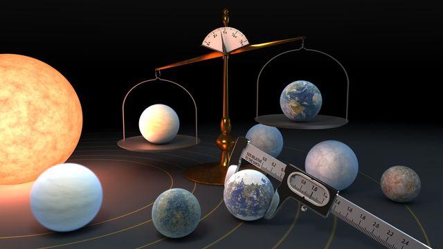 Une impression d'artiste du système planétaire TRAPPIST-1. Img avec CP Unige JPL/Caltech NASA [JPL/Caltech - NASA]