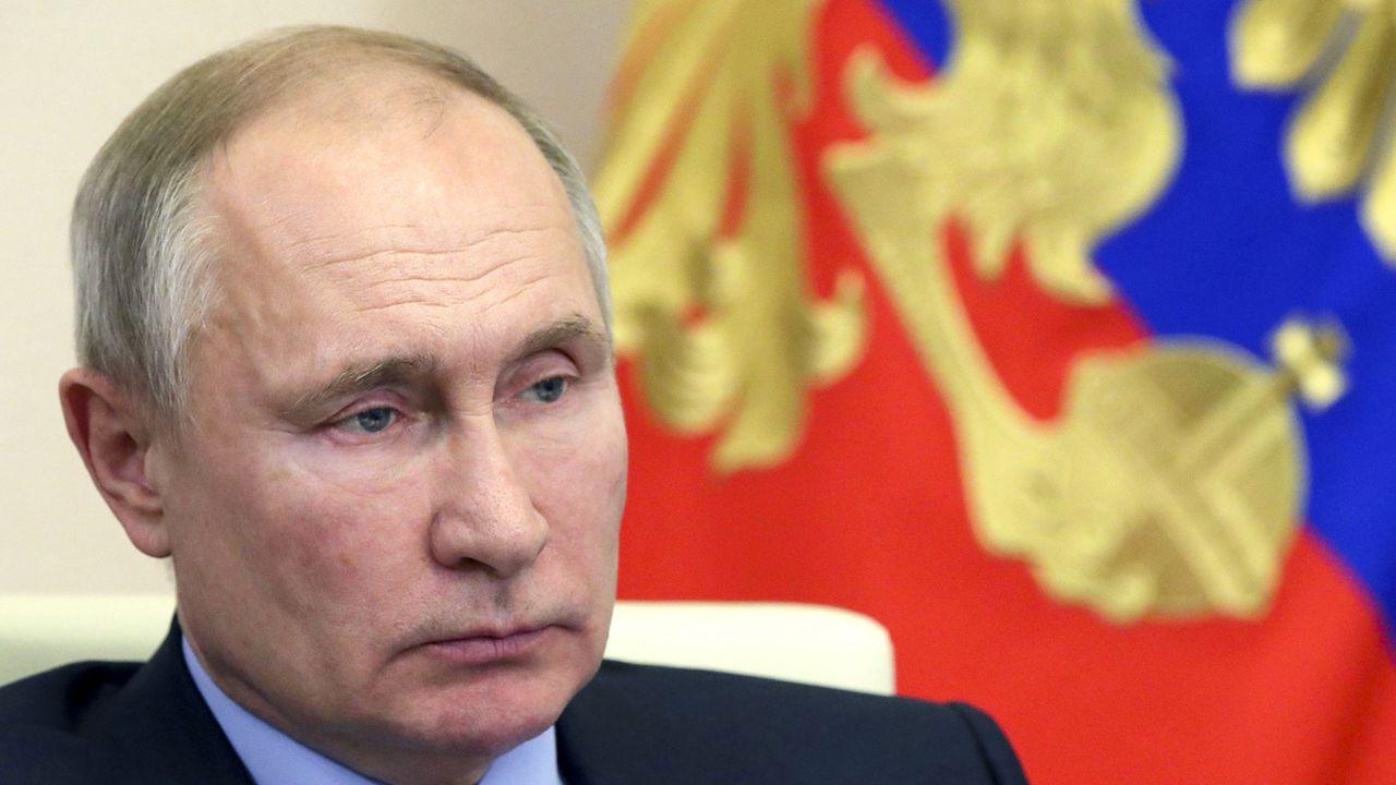 Le président russe Vladimir Poutine photographié le 21 janvier 2021. [Mikhail Klimentyev, Sputnik, Kremlin Pool Photo via AP - Keystone]