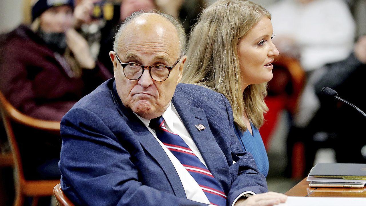 """Dans une plainte déposée lundi au tribunal fédéral de la capitale Washington, Dominion Voting Systems accuse Rudy Giuliani d'avoir été l'un des principaux propagateurs du """"Grand mensonge"""".  [MIKE MULHOLLAND - KEYSTONE]"""