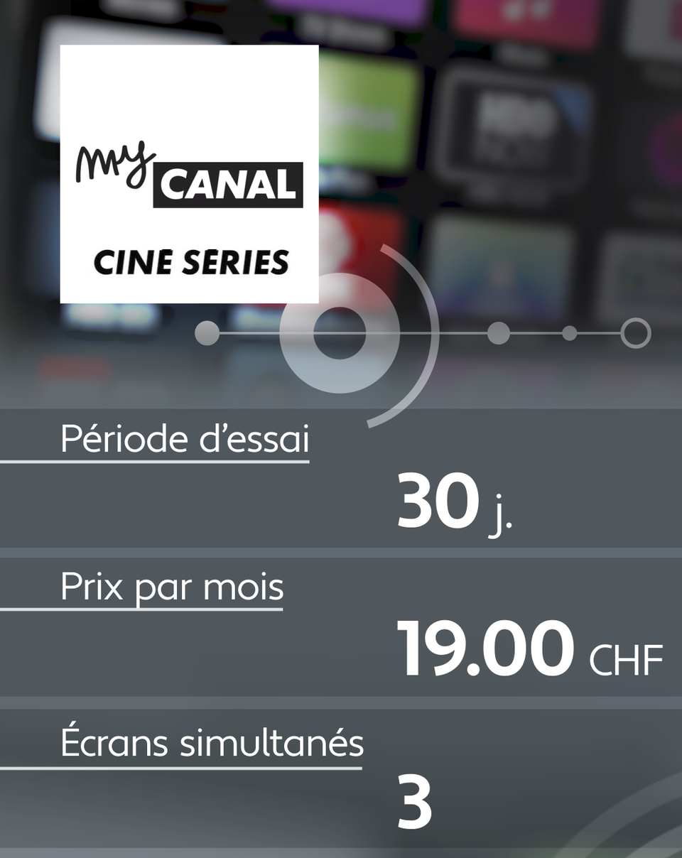 Conditions d'abonnement de quelques plateformes de streaming: My Canal. [RTS]