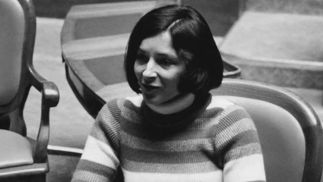 Gabrielle nanchen en 1972 plan moyen [RTS]