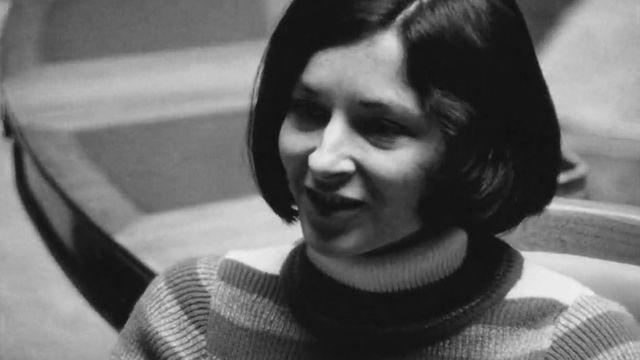 Gabrielle Nanchen, conseillère nationale, en 1972 [RTS]