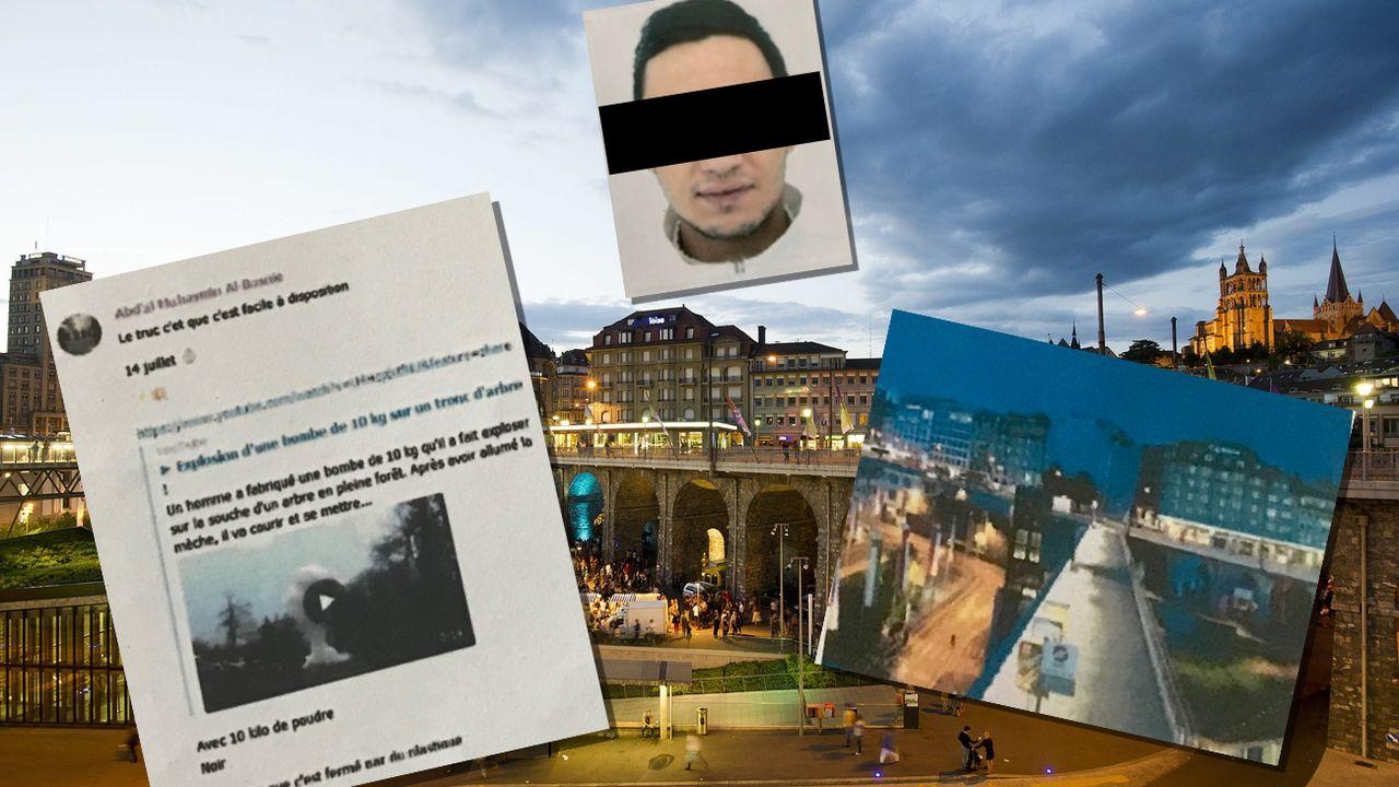 La Place de l'Europe à Lausanne a notamment été évoqué dans des échanges sur la messagerie Telegram. [Jean-Christophe Bott - Keystone]