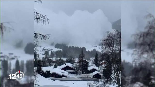 Les Alpes vaudoises en alerte maximale [RTS]