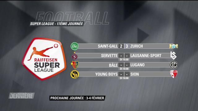 Super League, 17e journée: résultats et classement [RTS]
