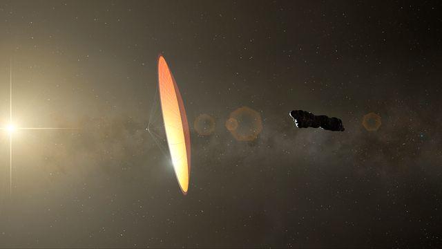 Illustration de Oumuamua, un astéroïde observé en 2017. [Mark Garlick - Science photo Library/MGA/AFP]