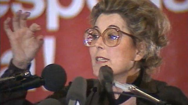 Lilian Uchtenhagen, conseillère nationale et candidate malheureuse au Conseil fédéral en 1983 [RTS]