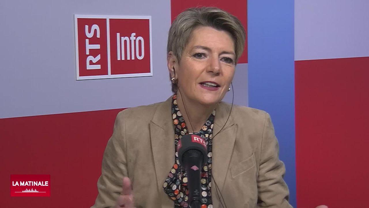 L'invitée de La Matinale (vidéo) – Karin Keller-Sutter, cheffe du département fédéral de justice et police [RTS]