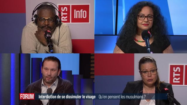 Le débat - Interdiction de se dissimuler le visage, qu'en pensent les musulmans ? [RTS]