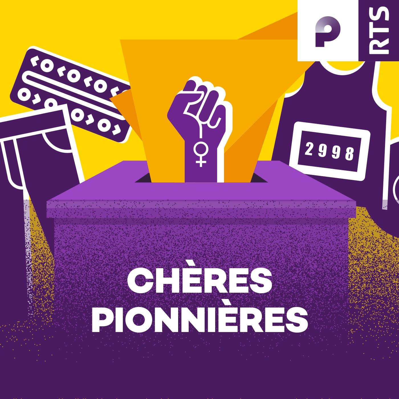 Chères Pionnières (Logo podcast)