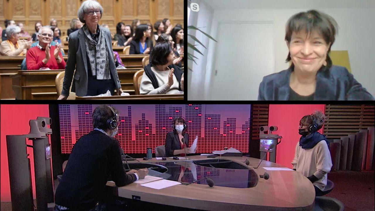 Les 50 ans du droit de vote des femmes en Suisse avec Gabrielle Nanchen et Doris Leuthard (2-2) (vidéo) [RTS]