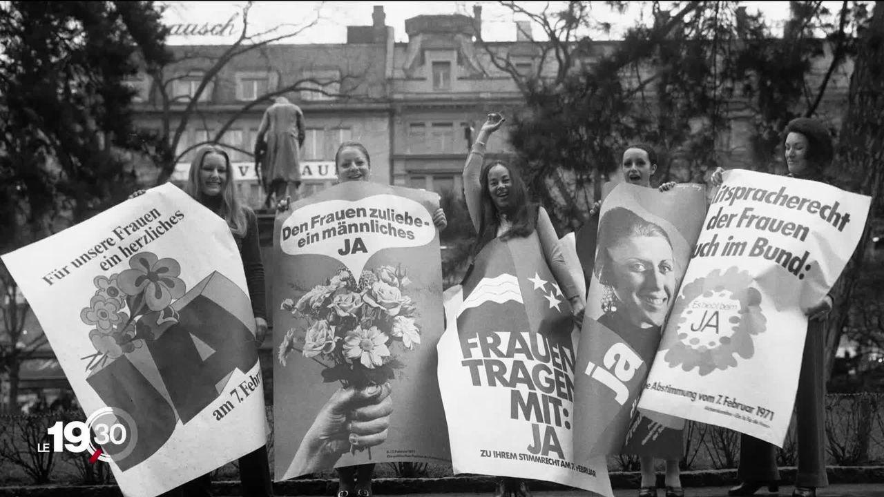 Le 7 février 1971, c'est l'aboutissement d'un long et pénible combat pour des milliers de Suissesses. [RTS]