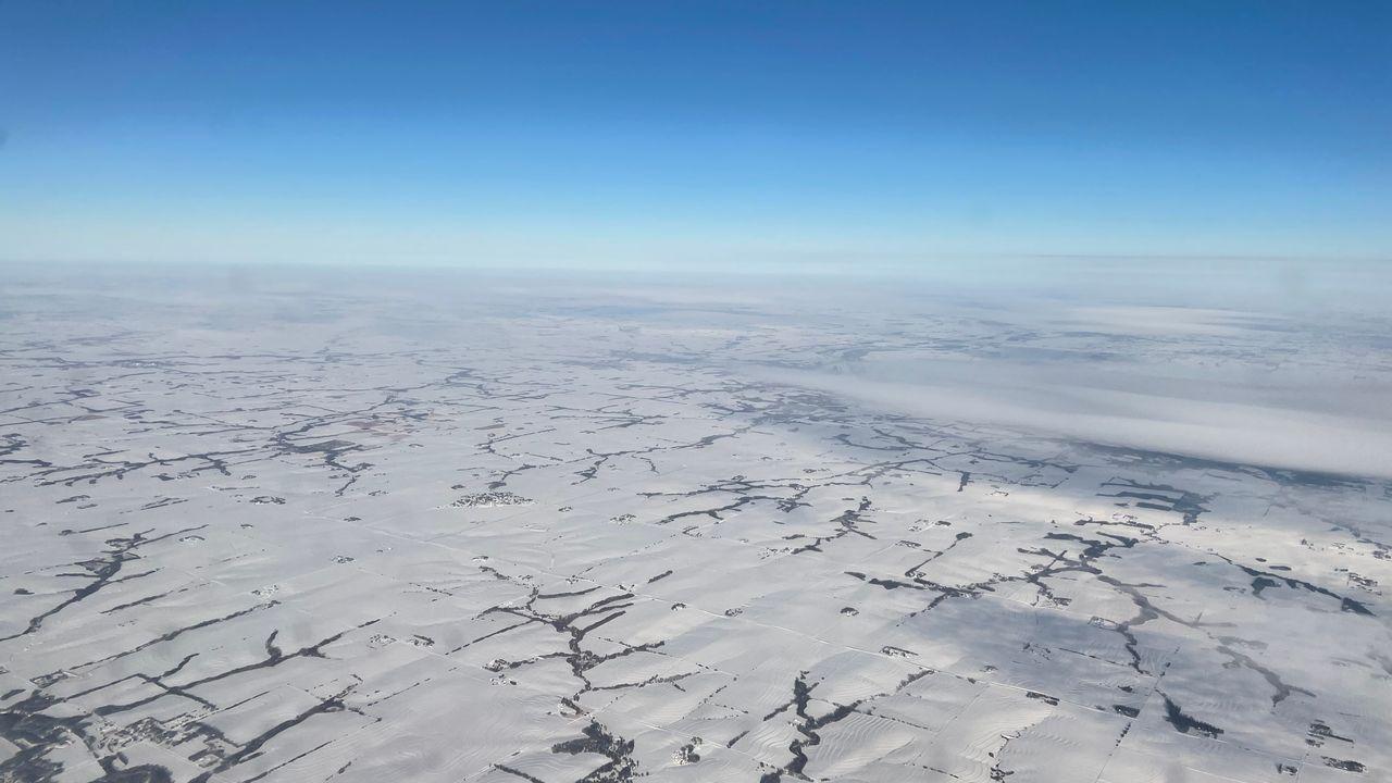 Vue aérienne sur le Nebraska, où l'oléoduc Keystone XL était en cours de construction. [Raphael Grand - RTS]