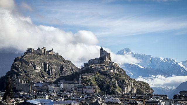 Une vue de la ville de Sion. [Olivier Maire - Keystone]
